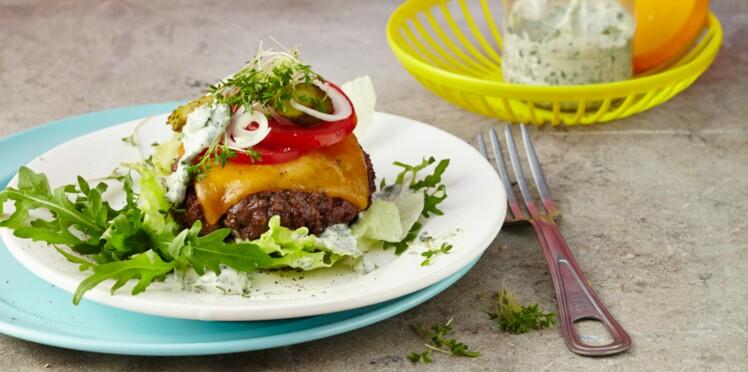 Steak haché de bœuf façon bistrot