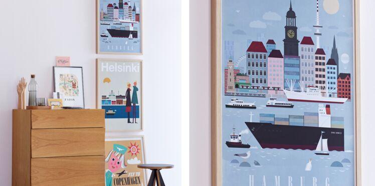 Des tableaux superposés pour une déco murale originale