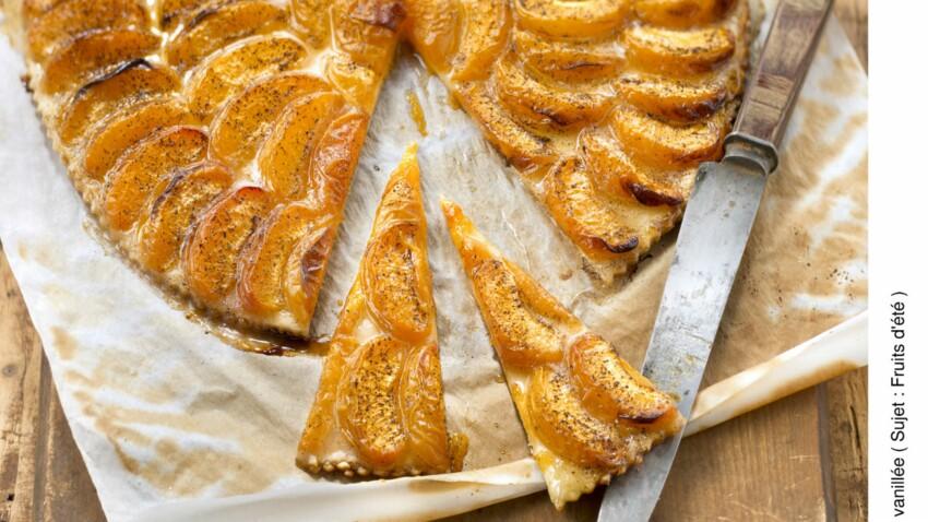 Tarte vanillée aux abricots et amande