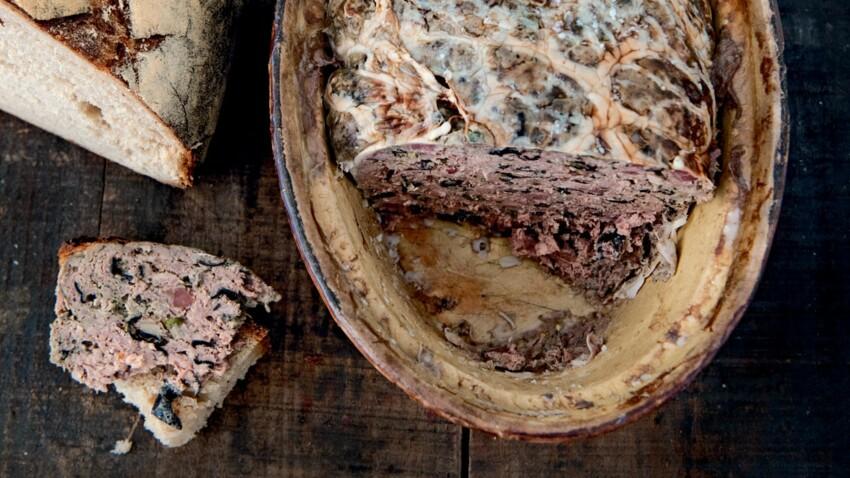 Terrine de foie de porc aux champignons