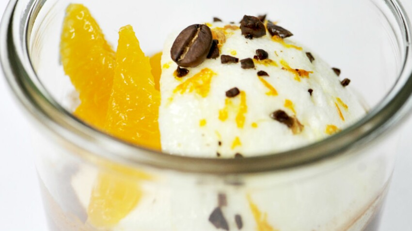 L'Île flottante café mandarine chocolat chaud de Anne-Sophie Pic