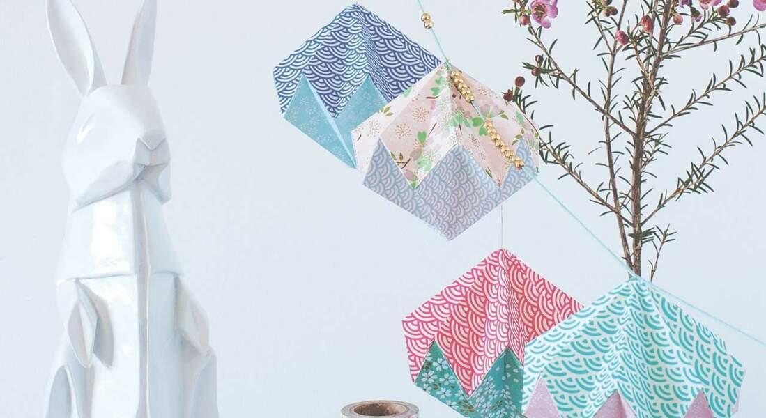 Guirlande en origami