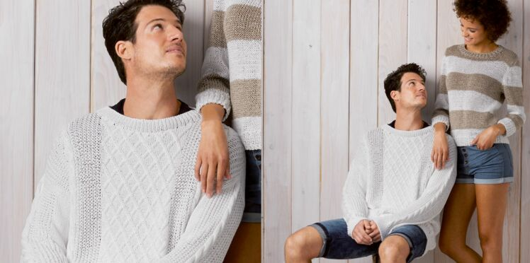 Le pull homme au point fantaisie