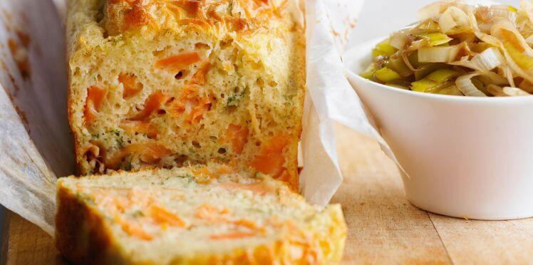 Cake au saumon, citron et coriandre
