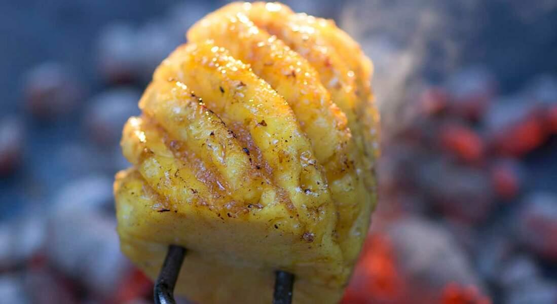 Ananas rôti aux épices