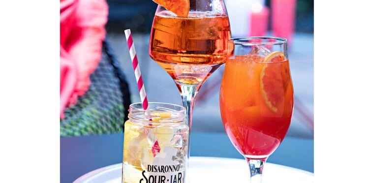 Trio de cocktails italiens
