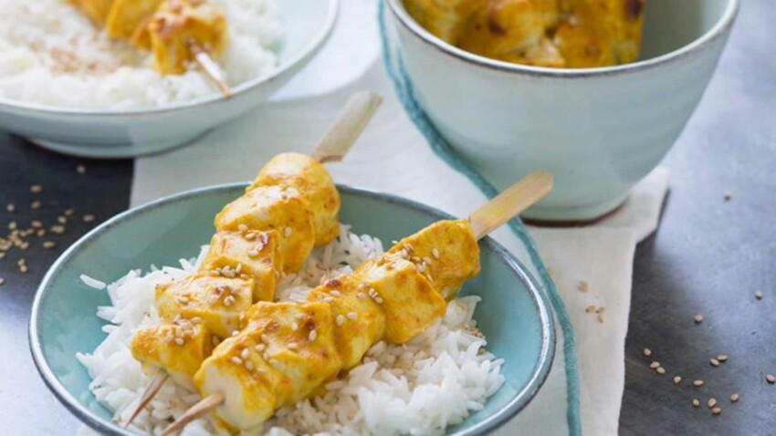 Brochettes de poulet asiatiques
