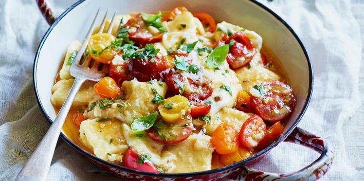 Polenta gratinée aux tomates et aux deux fromages