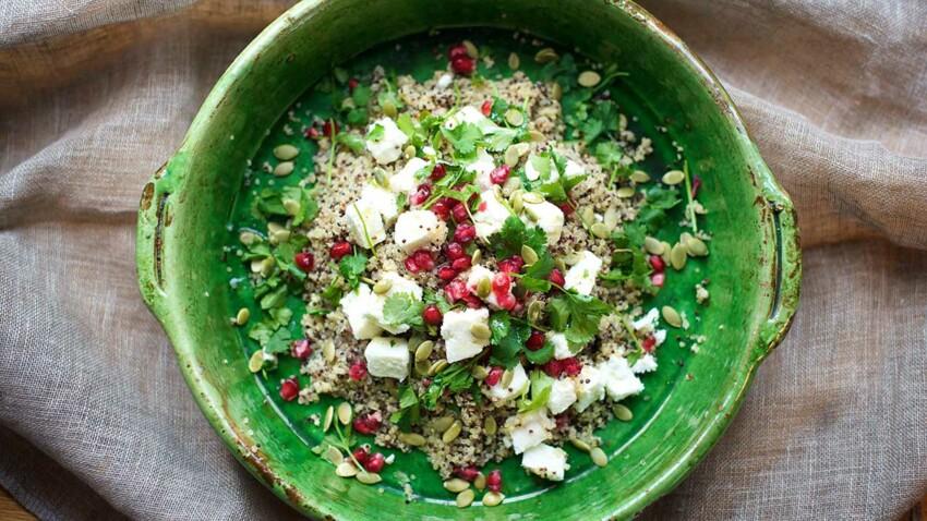 Salade de quinoa, feta et menthe facile