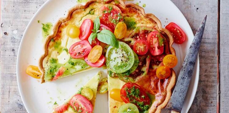 Tarte à la ricotta aux tomates fraîches