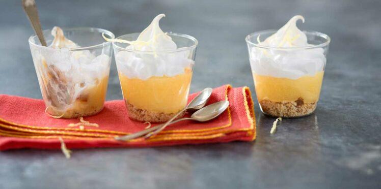 Verrines façon tarte au citron