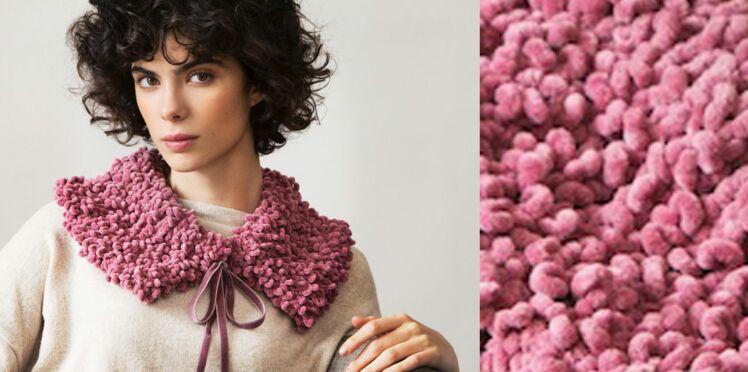 Le col fantaisie tricoté