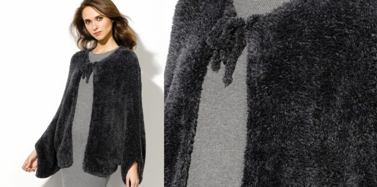 La veste boléro en fil velours
