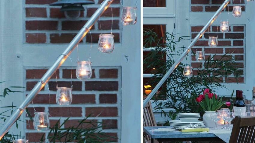 Une perche lumineuse pour le jardin