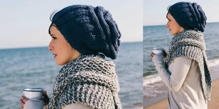 Le bonnet en cotes et son châle