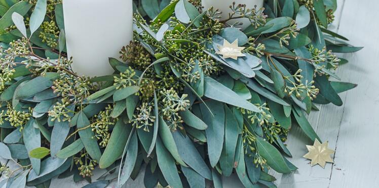 Une couronne de Noël végétale