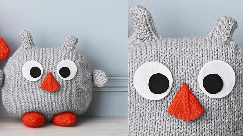 Le doudou chouette tricoté
