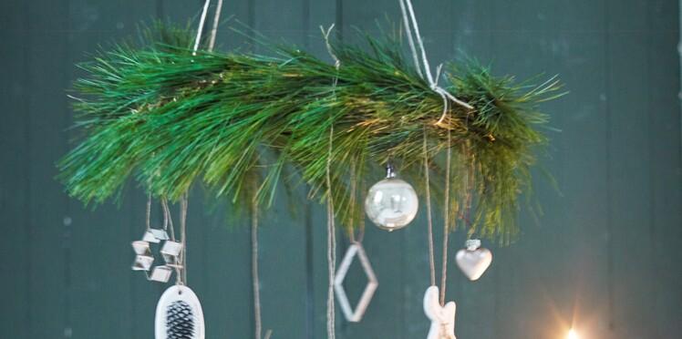Une couronne de Noël mobile