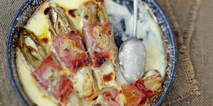 Endives au jambon et gorgonzola