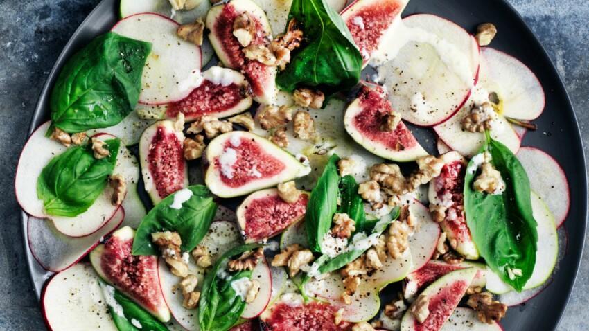 Salade d'automne, sauce aux noix