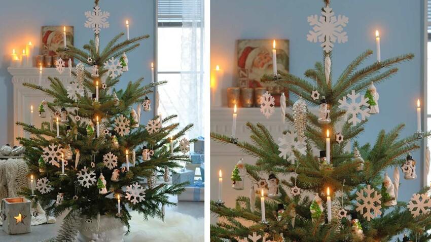 Des suspensions flocons pour le sapin de Noël