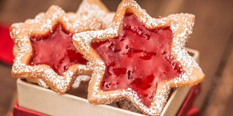 Biscuits étoiles à la confiture