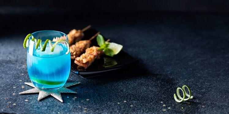 Brochettes de poulet et Blue Bird