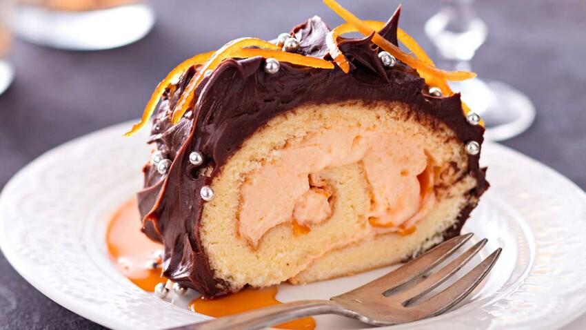 Bûche crème d'orange et Grand Marnier