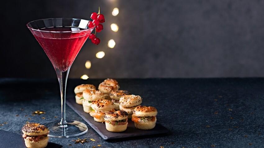 Mini-bagels et Cosmopolitan