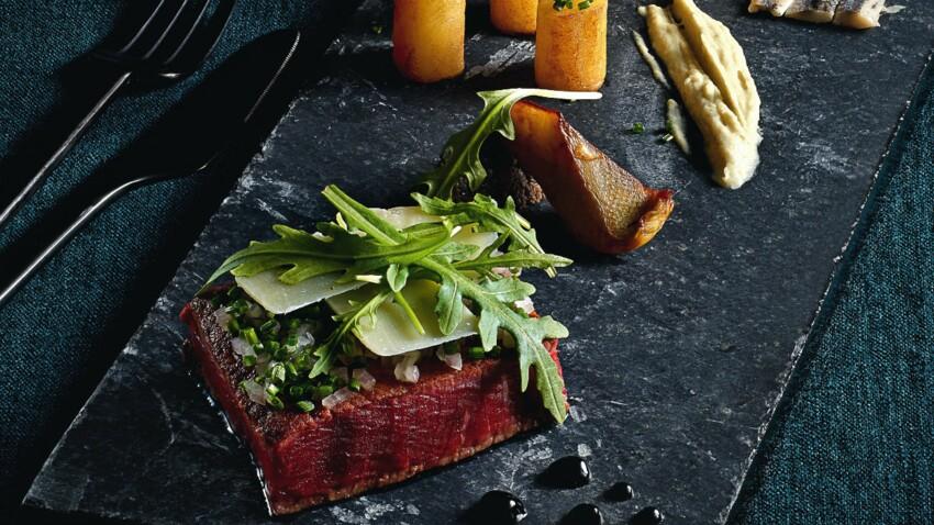 Pièce de bœuf grillé, crémeux d'artichaut d'Olivier Streiff