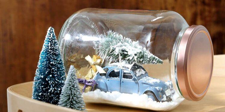 Une boule à neige voyageuse pour la déco de Noël