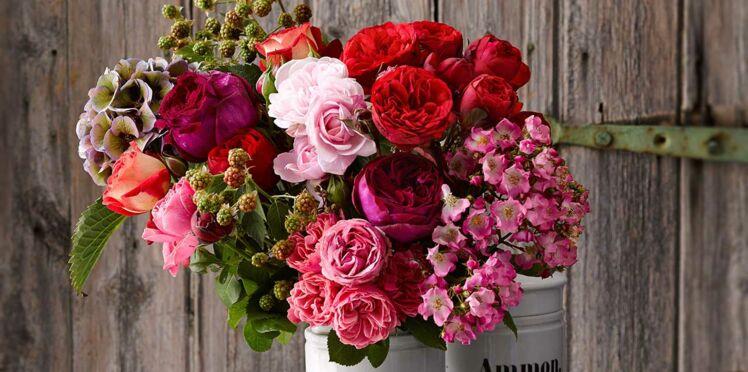 Un bouquet de roses automnale