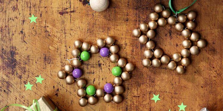 Des dessous-de-plat en étoiles pour Noël
