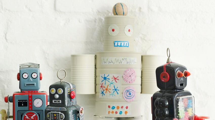 Un robot en boites de conserve pour les enfants