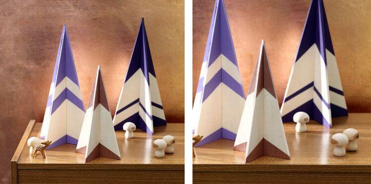 Des sapins en balsa 3D pour Noël