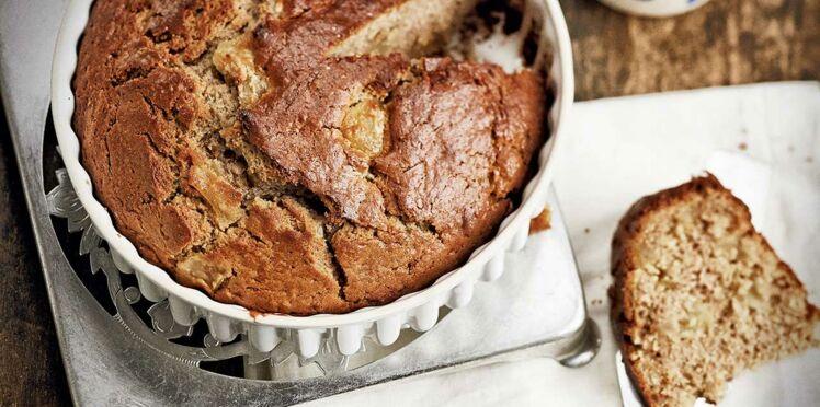 Gâteau à la crème de marrons et pommes caramélisées