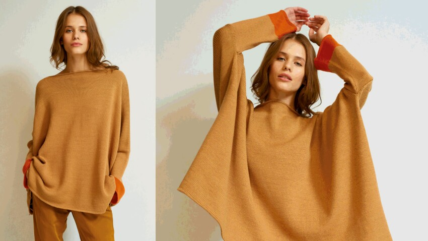 Le pull extra large au point jersey
