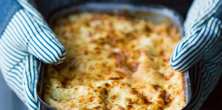 Lasagnes aux épinards et comté
