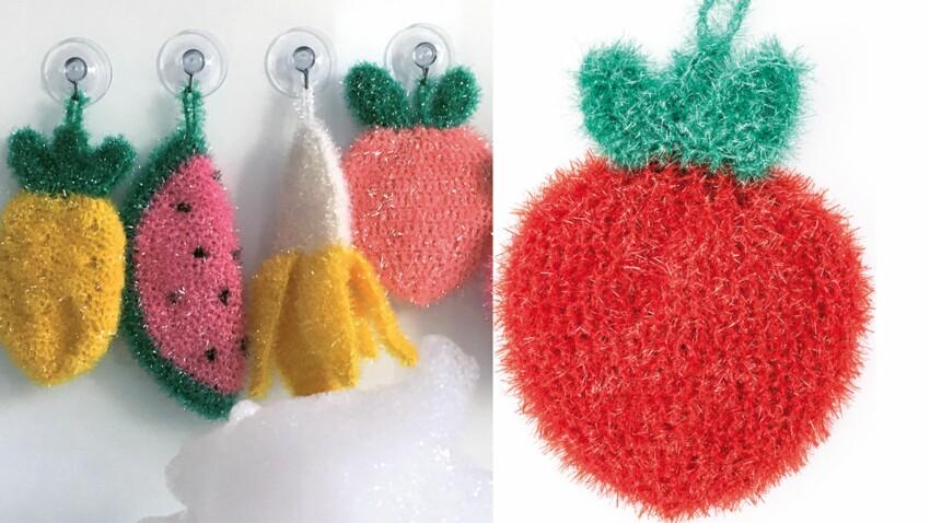 Les éponges fruits au crochet