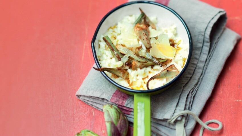 Risotto aux artichauts poivrades