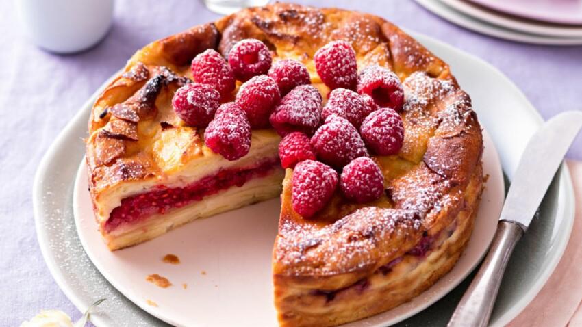 Gâteau invisible aux framboises