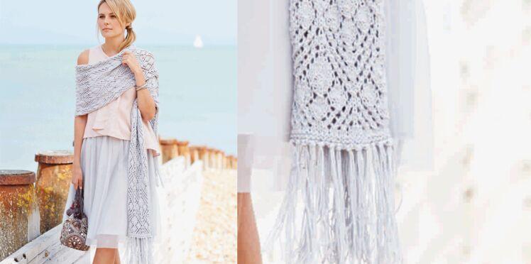 Etole tricotée en coton