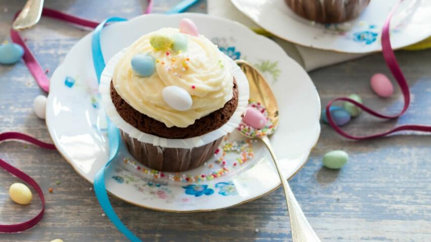 Cupcakes, cœur praliné et cream cheese