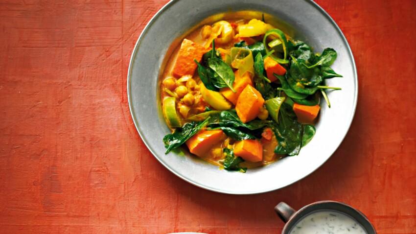 Curry rouge de légumes