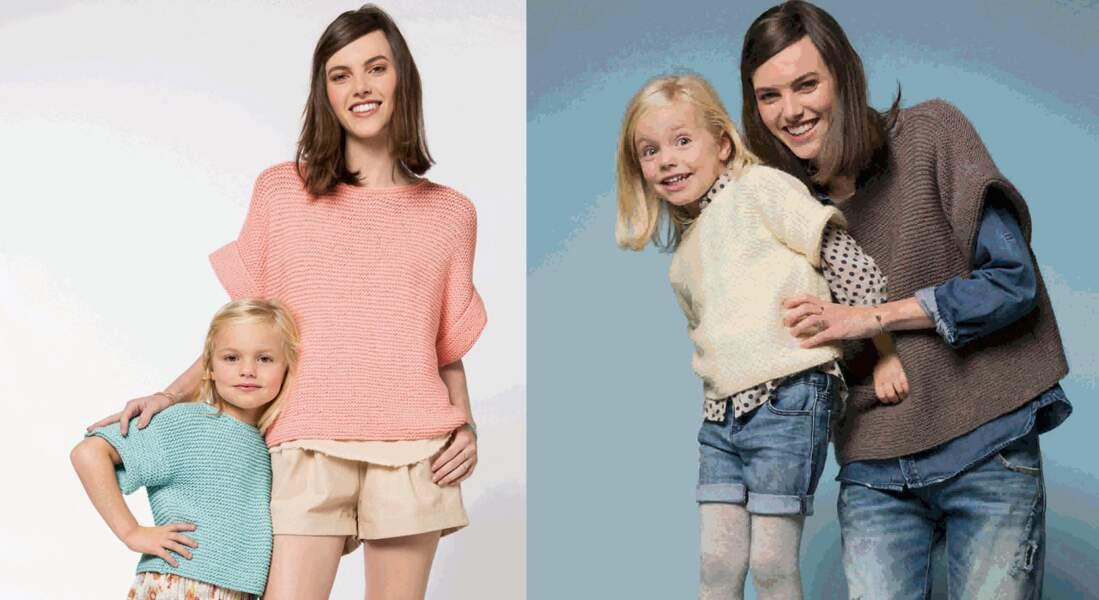 Les pulls mère et fille