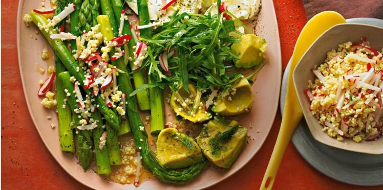 Salade composée aux légumes et millet