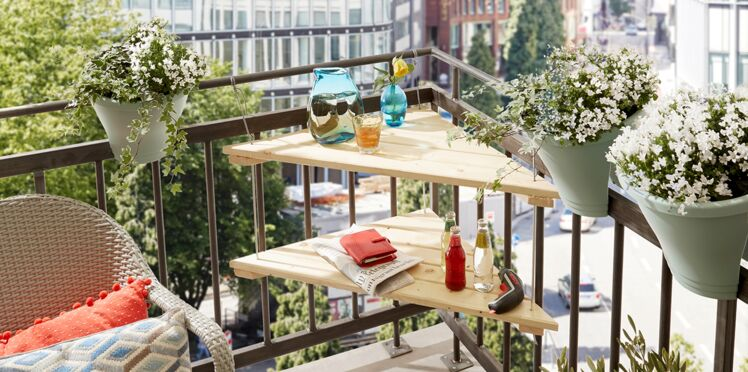 Comment faire une table de balcon en angle ?