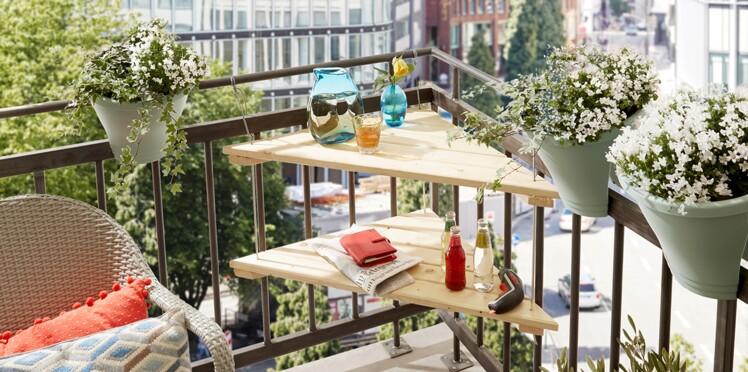 Comment faire une table de balcon en angle ?