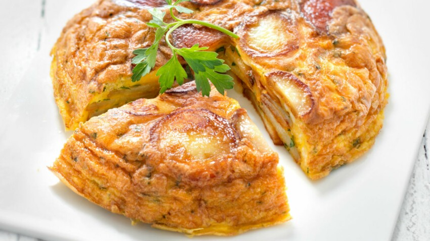 Tortilla facile au four