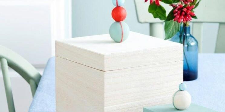 Je crée mes boîtes de rangement avec des perles de bois